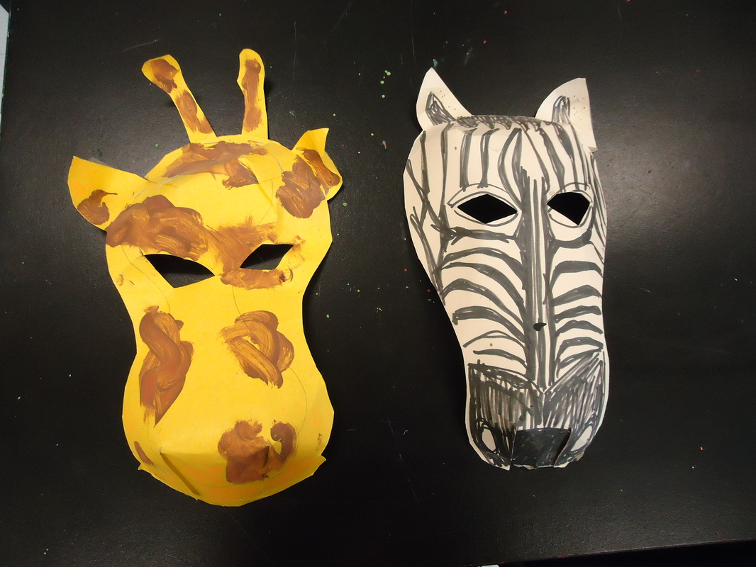 They Create Their Own 3D Paper Masks Of Animals That Can Be Found In Africa This Is A Favorite Art Activity Many Children
